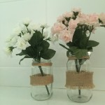 Vintage Jars of flowers