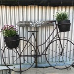Rustic Bike and Wedding Sign